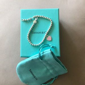 Tiffany &Co silver beaded bracelet